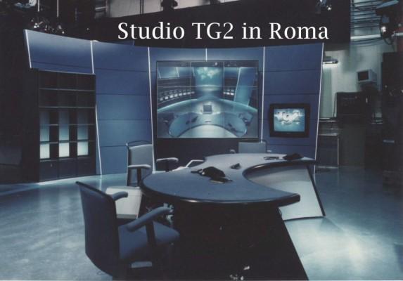 Allestimento Studio TG 2 Salute