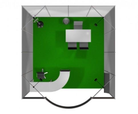 Stand preallestito 4x4 1 lato aperto - vista 2