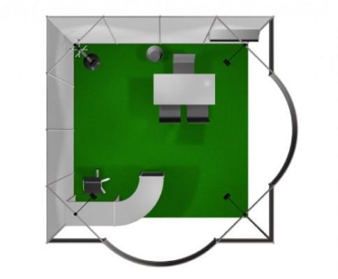 Stand preallestito 4x4 2 lati aperti - vista 2