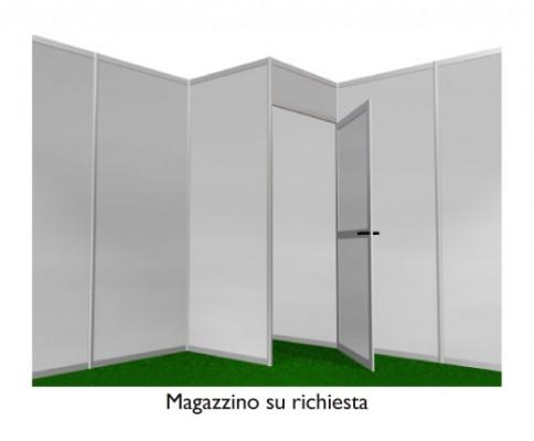 Stand preallestito 6x4m 2 lati aperti - magazzino
