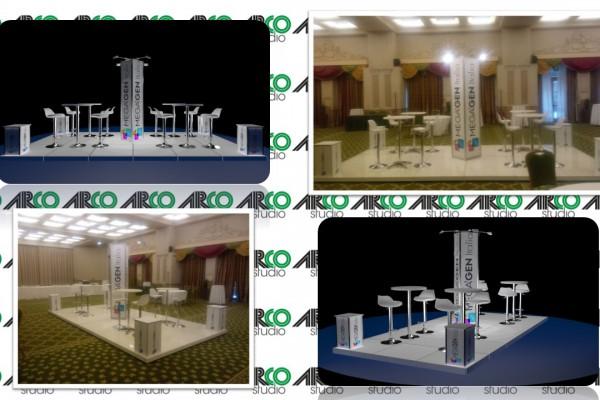 Render e realizzazione dello stand Megagen